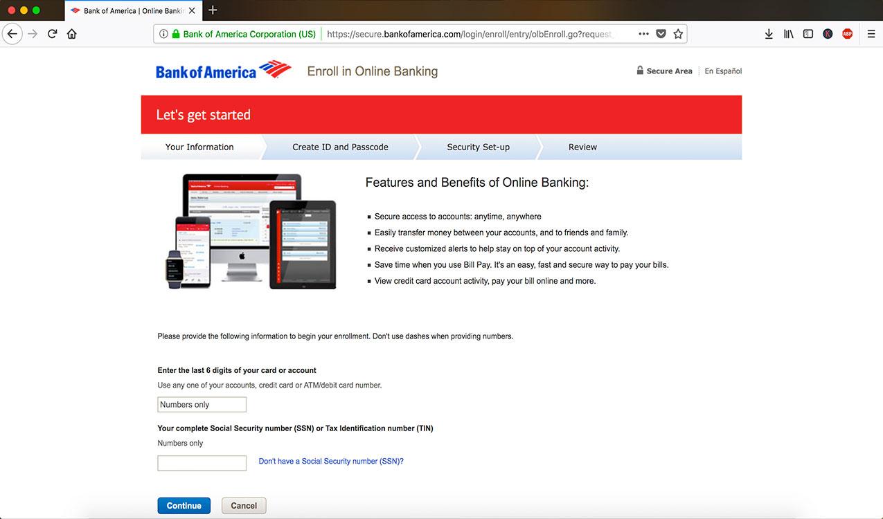 enroll online banking